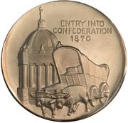 Medallion - Manitoba Centennial – revers