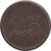 """25 Pfennig (Werth-Marke; Countermarked """"MR"""") – revers"""