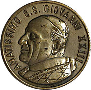 Medal (homage to the popes John Paul II and John XIII) – revers