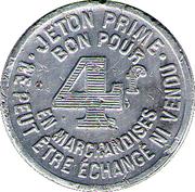 4 Francs Groupement Commercial Montbéliardais - Montbéliard [25] – avers