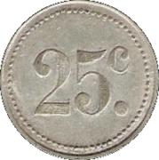 25 Centimes - Société Coopérative des cheminots - Tergnier [02] – revers