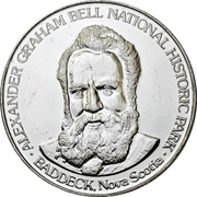 Souvenir token - Alexander Grahm Bell National Historic Park – avers
