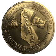 Medal - California State Numismatic Association (67th Convention) – revers
