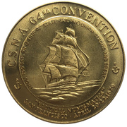 Medal - California State Numismatic Association (64th Convention) – avers