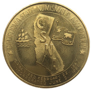 Medal - California State Numismatic Association (64th Convention) – revers