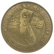 Medal - California State Numismatic Association (65th Convention) – revers