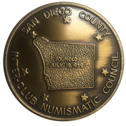 Medal - Inter-Club Numismatic Council (38th Coinarama, San Diego Trolley) – revers