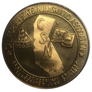 Medal - California State Numismatic Association (79th Convention) – revers
