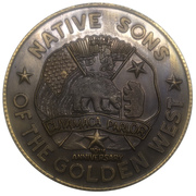 Medal - 1986 Mother Goose Parade (Native Sons of the Golden West) – avers