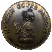 Medal - 1986 Mother Goose Parade (Native Sons of the Golden West) – revers