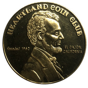 Medal - Heartland Coin Club (32nd Anniversary) – revers