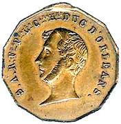 LOUIS-PHILIPPE Ier Ferdinand Philippe , DUC D'ORLEANS – avers