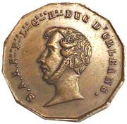 Medallion - Duc d'Orleans (Chapelle de Château de Dreux) – avers