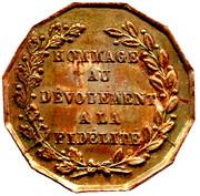 Medallion - Death of G. Bertrand – revers