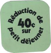 Réduction de 40 cents sur petit déjeuner-Service Alimentaire Université Laval (rectangulaire; Sainte-Foy, Québec) – revers