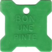 Bon pour 1 pinte - Laiterie Victo Inc. (Victoriaville, Québec; plastique vert) – revers
