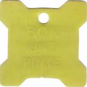 Bon pour 1 pinte - Crèmerie des Bois Francs (Victoriaville, Québec; plastique jaune) – revers