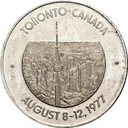 Token - International Federation of Information Processing (Toronto, Ontario) – revers