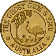 Jeton - The Ghost Gum & Emu (Melbourne, Victoria) – avers