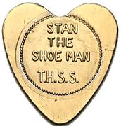 50 Cents Shoe Token - Stan the Shoe Man (Brantford, Ontario) – avers