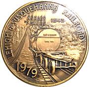 Token - Wyoming Valley Coin Club (Lehigh & Susquehanna Railroad) – avers