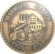 Token - Wyoming Valley Coin Club (North Branch Canal) – revers