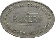½ Loaf Bakery Token - Newcastle & Suburban Co-operative Society – avers
