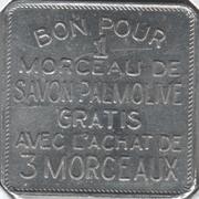 Jeton Palmolive (Flan carré, en français) – revers