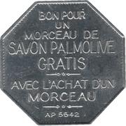 Jeton Palmolive (Flan octogonal, en français) – revers