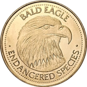 Token - World Endangered Species Coin Collection (Bald Eagle - Gold plated) – avers