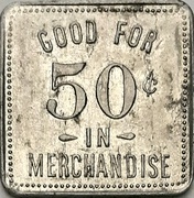 50 cents - F. Walker's Grocery (Norwich, Ontario) – revers