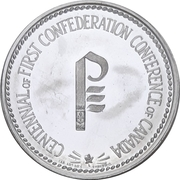 Token - Centennial of First Confederation Conference – revers