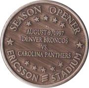 Token - Carolina Panthers (Season Opener 1997) – revers