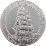 Bateau école Gorch Fock. Tour du monde – avers