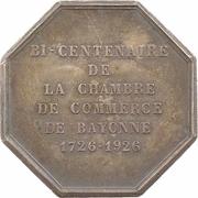 Jeton - Bicentenaire de la chambre de commerce de Bayonne – avers