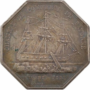 Jeton - Bicentenaire de la chambre de commerce de Bayonne – revers