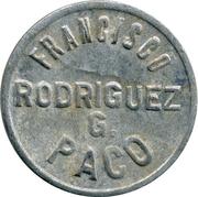 Jeton - Francisco Rodriguez G. Paco – avers