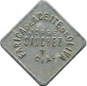 Jeton - Aceite de Oliva Jorge Sanchez y Cia. – avers