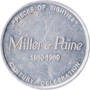 Jeton - Miller & Paine Centennial (Lincoln and Grand Island, Nebraska) – avers
