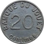 20 centimes - Banque Du Jouet – revers