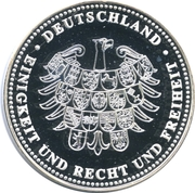 Jeton - Deutschland Einigkeit und Recht und Freiheit (Ludwig Erhard) – revers