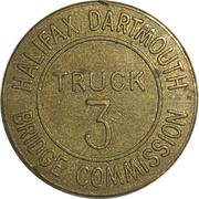 Jeton de péage - Halifax Dartmouth Bridge Commission (Truck 3) – avers