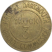 Jeton de péage - Halifax Dartmouth Bridge Commission (Truck 3) – revers
