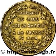 Annexion de la Savoie et du Comté de Nice à la France – revers