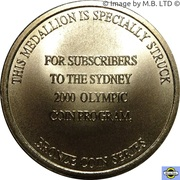 Subscriber Medal -  revers