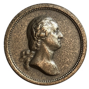 Medal - George Washington and Abraham Lincoln – avers