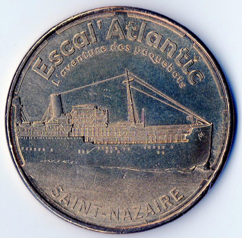 jeton touristique monnaie de paris escal 39 atlantic saint nazaire 44 jetons numista. Black Bedroom Furniture Sets. Home Design Ideas