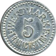 5 pfennig Wertmarke Kranichstein – avers