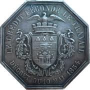 Jeton octogonal Comptoir d'escompte de Lille 1854 – avers