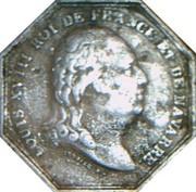 Jeton octogonal Louis XVIII Chambre de commerce de Dieppe – avers